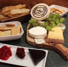 Cheese board with home made crackers