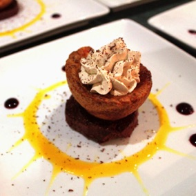 Sweet Yorkshire puds chocolate marquise